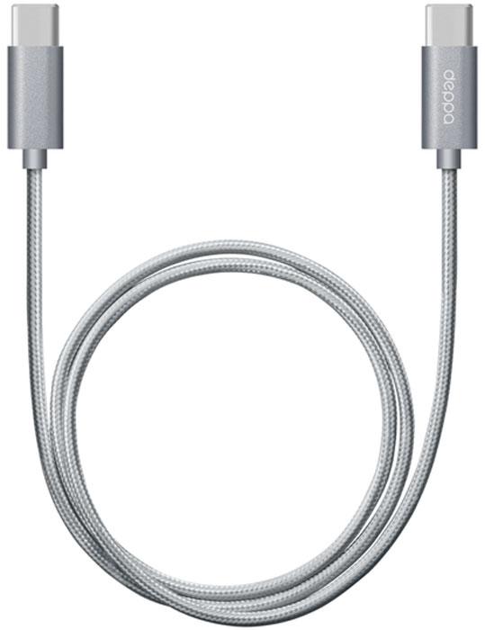 Deppa Alum, Graphite дата-кабель USB Type-C (1,2 м)72248Дата-кабель Deppa Alum USB Type-C предназначен для синхронизации и зарядки смартфонов и планшетных компьютеров. Подходит для подключения к MacBook, Chromebook и другим устройствам с разъемом USB Type-C.