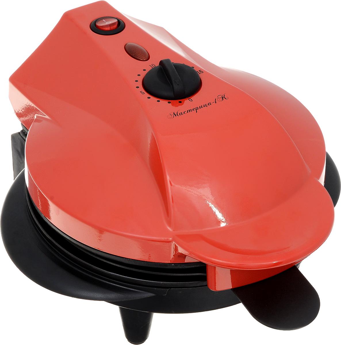 Великие Реки Мастерица-1К печьМастерица-1КПечь Мастерица-1К имеет 4 сменных панели: панель для котлет/кексов/пирогов,панель для омлета, панель для гриля, панель для пиццы-пирогов. Благодаря антипригарному покрытию ваша выпечка никогда не подгорит. Модель станет отличным подарком для любителей быстрой и вкусной пищи. Мастерица-1Кдолгие годы будет безупречно работать и станет лучшим помощником на кухне для тех, кто ценит свое время и любит вкусно перекусить. Регулируемая мощность, таймер на 15 минут.
