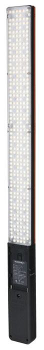 YongNuo YN360 осветитель светодиодный для фото и видеокамерYN360Вытянутый осветитель YongNuo YN360 с большим количеством светодиодов и разной цветовой температурой.Яркость диодов плавно регулируется при помощи диммера на ручке устройства. Также снизу ручки имеется стандартное резьбовое отверстие 1/4. Помимо прочего настройками осветителя можно управлять дистанционно через приложение на смартфоне. Осветитель YongNuo YN360 имеет вытянутую форму, что поможет создать эффектные блики в глазах модели. На конце имеется удобная ручка. Диоды меняют цвет с насыщенного красного на синий и зеленый. Баланс между группами диодов можно тонко регулировать, получая нужную цветовую температуру. Управление устройством по Bluetooth с приложения на смартфоне. Питание осуществляется от батарей типа Sony NP-F. Аккумулятора NP-F770 хватает на 2 часа работы LED диодов и 4 часа SMD диодов на полной мощности.