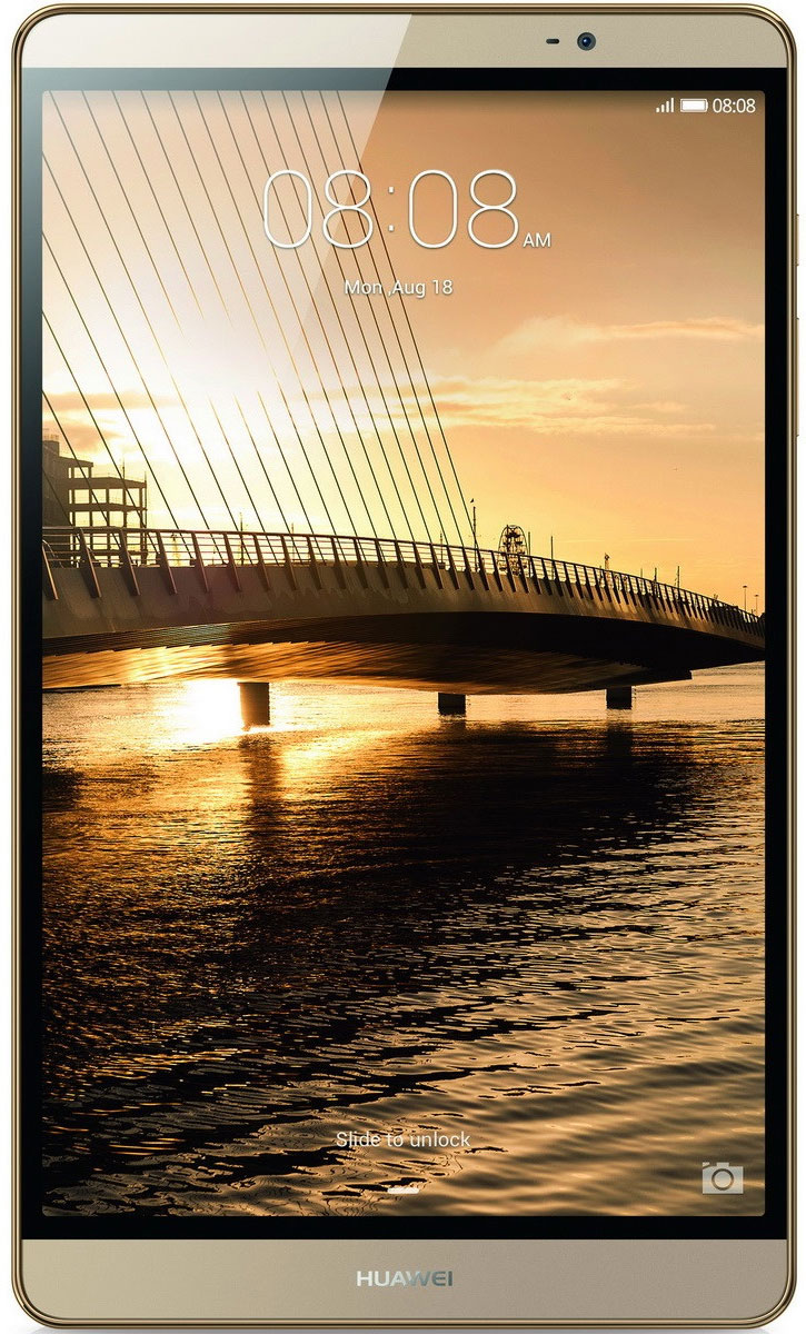 Huawei MediaPad M2 8.0 LTE (32GB), Gold53017939Чистые линии и сглаженные края алюминиевого корпуса нового планшетного ПК Huawei MediaPad M2 8.0 LTE выделяют его из ряда планшетов этого класса. Толщина планшета всего 7,8 мм! Стильный, эргономичный дизайн вашего планшета с тонкой рамкой обязательно обратит на себя внимание.Суперчеткий экран (разрешение 1920 х 1200) и кристально чистое стереозвучание, обеспечиваемое двумя динамиками и технологией DTS, подарят вам незабываемые ощущения при просмотре видео или прослушивании музыки.Высокая производительность и длительное время работы без подзарядки достигаются благодаря 8-ядерному процессору и батарее 4800 мАч. Huawei MediaPad M2 8.0 LTE - превосходное устройство для по-настоящему бескомпромиссных пользователей.Планшетный ПК Huawei MediaPad M2 8.0 LTE совместим с умными часами Huawei Talk Band, первым в мире устройством, объединяющим в себе функции Bluetooth-гарнитуры и умных часов.Talk Band поддерживает до 7 часов разговора (в режиме голосовых вызовов) и до 2 недель без подзарядки в режиме ожидания. Также это совершенно незаменимый помощник при занятиях спортом.Собираетесь в путешествие? Планшет Huawei MediaPad M2 8.0 LTE - это еще и незаменимый GPS-навигатор. С MediaPad M2 все ваши маршруты будут максимально оптимальными, а ваш путь - действительно удобным и комфортным благодаря его точным и своевременным подсказкам.Планшетный компьютер имеет сертификат EAC, русифицированное меню и Руководство пользователя.