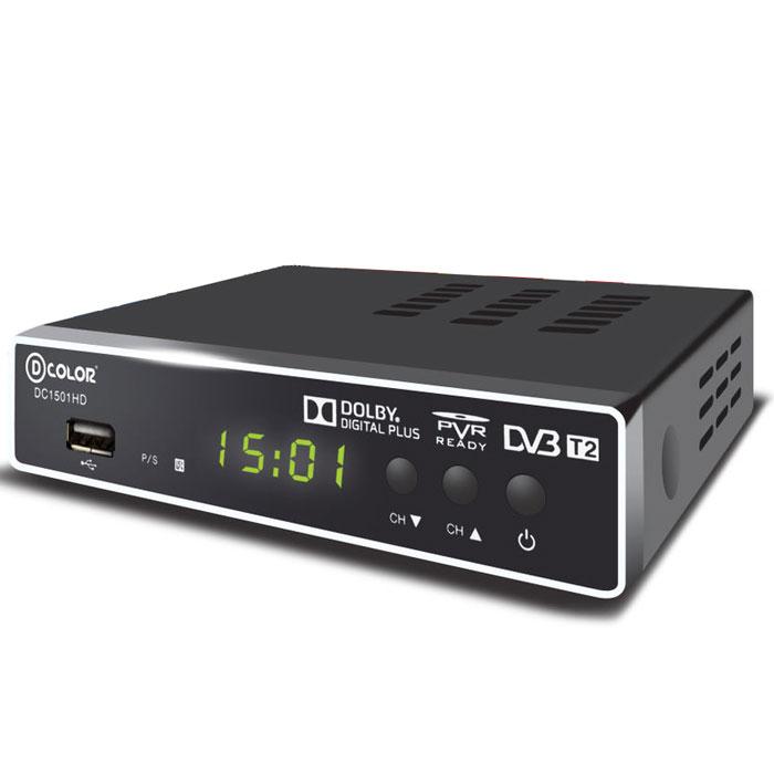 D-Color DC1501HD DVB-T2 цифровой ТВ-тюнер