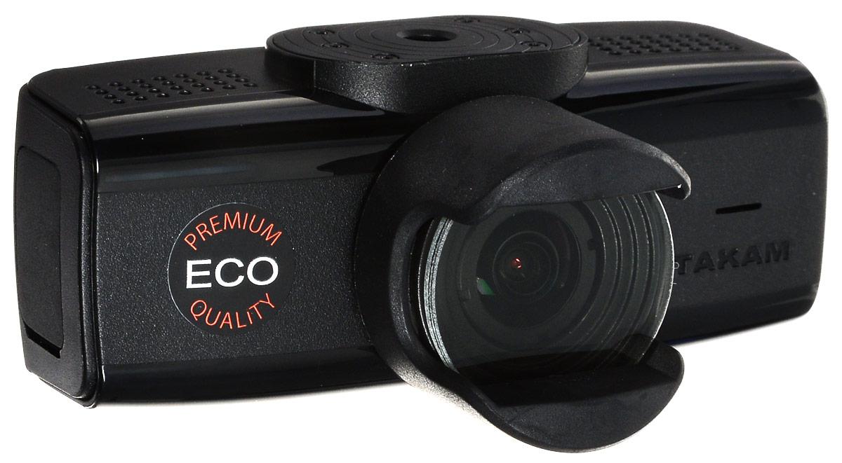 Datakam 6 Eco, Black видеорегистратор6 ECOВидеорегистратор Datakam 6 Eco отличается удобной конструкцией и надежностью.Данная модель оснащена широкоугольным объективом (с углом обзора 150 градусов), динамиком и микрофоном, что гарантирует запись полной картины в любой дорожной ситуации.Регистратор Datakam 6 Eco записывает видео в формате 2304x1296 и оборудован датчиком удара. Поддержка карт памяти формата microSD объемом до 64 ГБ обеспечивает бесперебойную съемку и дальнейшее хранение файлов. Видеорегистратор питается от автомобильного прикуривателя или встроенного резервного аккумулятора.