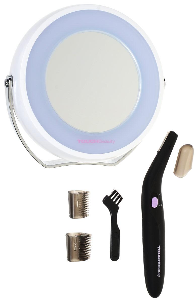Косметический набор Touchbeauty AS-1001AS-1001В набор Touchbeauty AS-1001 входит электрический триммер и двухсторонее зеркало с подсветкой (одно из зеркал увеличивающее). Очень удобный и практичный в применении комплект для оформления линии бровей, для зоны бикини и т.д. В комплект входят 3 насадки для разной длины волос и зеркало с удобной ручкой-подставкой.