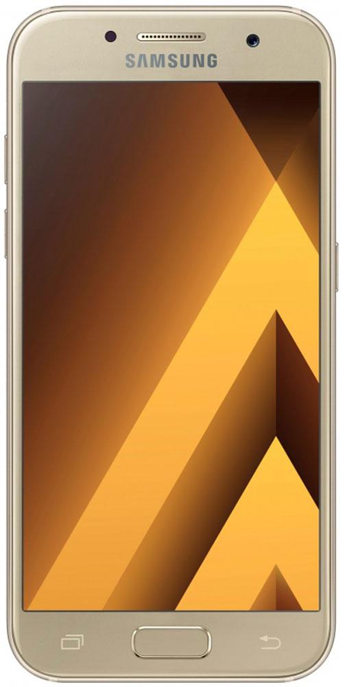 Samsung SM-A720F Galaxy A7 (2017), GoldSM-A720FZDDSERСовременный минималистичный корпус из 3D-стекла и металла, а также 5,7-дюймовый экран Full HD sAMOLED - все это отличительные черты Samsung Galaxy A7 (2017).Плавные линии корпуса, отсутствие выступов камеры, утонченная и элегантная отделка позволяют получить настоящее удовольствие от использования смартфона.Будьте законодателями трендов, а не просто следуйте им. Стильные цветовые решения идеально гармонируют с корпусом из стекла и металла, создавая динамичный и цельный образ. Четыре модных цвета на выбор превосходно дополнят ваш стиль.Запечатлите памятные моменты. Благодаря высокому разрешению основной камеры в 16 Mп фотографии всегда будут яркими и красочными.Вместе с Galaxy A7 (2017) почувствуйте себя профессиональным фотографом. Наличие широкого выбора фильтров позволяет подойти к процессу съемки более креативно. Теперь каждая фотография будет особенной.Идеальные селфи даже ночью. Где бы вы ни находились - на вечерней прогулке или в ночном клубе - ваши фотографии будут идеальными. Камера автоматически адаптируется даже к условиям недостаточной освещенности, а дисплей выполняет роль вспышки. Благодаря Smart-кнопке снимать селфи стало просто. Все, что нужно - выбрать расположение кнопки затвора на экране.Стандарт защиты от воды и пыли IP68 позволяет комфортно использовать смартфоны Galaxy A7 (2017) в любых условиях - будь то дождь или бассейн.Наслаждайтесь играми или просмотром видео еще дольше благодаря увеличенному объему аккумулятора.Разделяете работу и личную жизнь, удаляете старый контент, так как недостаточно памяти? Выбирайте то, что удобно вам: слот для 2-ой SIM-карты или карты памяти объемом до 256 ГБ.С функцией Always On Display вся актуальная информация всегда на экране. Просматривайте время, события в календаре и непрочитанные уведомления даже если смартфон находится в спящем режиме.Храните конфиденциальную информацию в защищенной папке. Благодаря безопасной среде KNOX вы можете быть уверены, что ваша