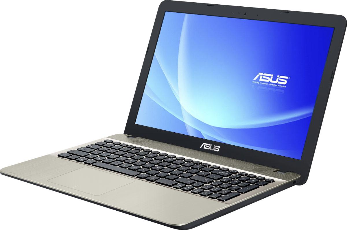 ASUS VivoBook Max X541SA, Chocolate Black (X541SA-XX327D)90NB0CH1-M04950Asus Vivobook Max X541SA - это современный ноутбук для ежедневного использования как дома, так и в офисе. В его аппаратную конфигурацию входит современный процессор Intel и 2 гигабайта оперативной памяти, которые обеспечат высокую скорость работы любых приложений.Для быстрого обмена данными с периферийными устройствами Vivobook Max X541SA предлагает высокоскоростной порт USB 3.1 (5 Гбит/с), выполненный в виде обратимого разъема Type-C. Его дополняют традиционные разъемы USB 2.0 и USB 3.0. В число доступных интерфейсов также входят HDMI и VGA, которые служат для подключения внешних мониторов или телевизоров, и разъем проводной сети RJ-45. Кроме того, у данной модели имеются кард-ридер формата SD/SDHC/SDXC.Благодаря эксклюзивной аудиотехнологии SonicMaster встроенная аудиосистема ноутбука Vivobook Max X541SA может похвастать мощным басом, широким динамическим диапазоном и точным позиционированием звуков в пространстве. Кроме того, ее звучание можно гибко настроить в зависимости от предпочтений пользователя и окружающей обстановки.Ноутбук Vivobook Max X541SA выполнен в прочном, но легком корпусе весом всего 1,9 кг, поэтому он не будет обременять своего владельца в дороге, а привлекательный дизайн и красивая отделка корпуса превращают его в современный, стильный аксессуар.Для комфортного чтения электронных книг и журналов в Asus Vivobook Max X541SA реализуется специальный режим Eye Care, в котором уменьшается интенсивность света в синей составляющей видимого спектра.Эргономичная клавиатура этого ноутбука обладает полноразмерными клавишами, каждая из которых наделена оптимизированным сопротивлением нажатию. Ваши руки не устанут даже после долгой работы с текстом.Тачпад, которым оснащается модель X541SA, обладает большой сенсорной панелью и поддерживает множество различных жестов: скроллинг, масштабирование, перетаскивание и т.д. За их корректное и быстрое распознавание отвечает специальная технология