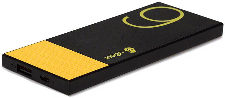 uBear Light 6000, Black Yellow внешний аккумуляторPB05BL6000-ADВнешний аккумулятор uBear Light 6000 покорит вас своим внешним видом с первого взгляда. Высококачественный пластик и невероятно яркий и тонкий дизайн. Аккумулятор прекрасно будет сочетаться с вашим смартфоном или планшетом, поддерживая их изящный стиль.Технические характеристики на высоте: LED-индикатор заряда, защита от короткого замыкания, перегрева, большое количество циклов перезарядки.