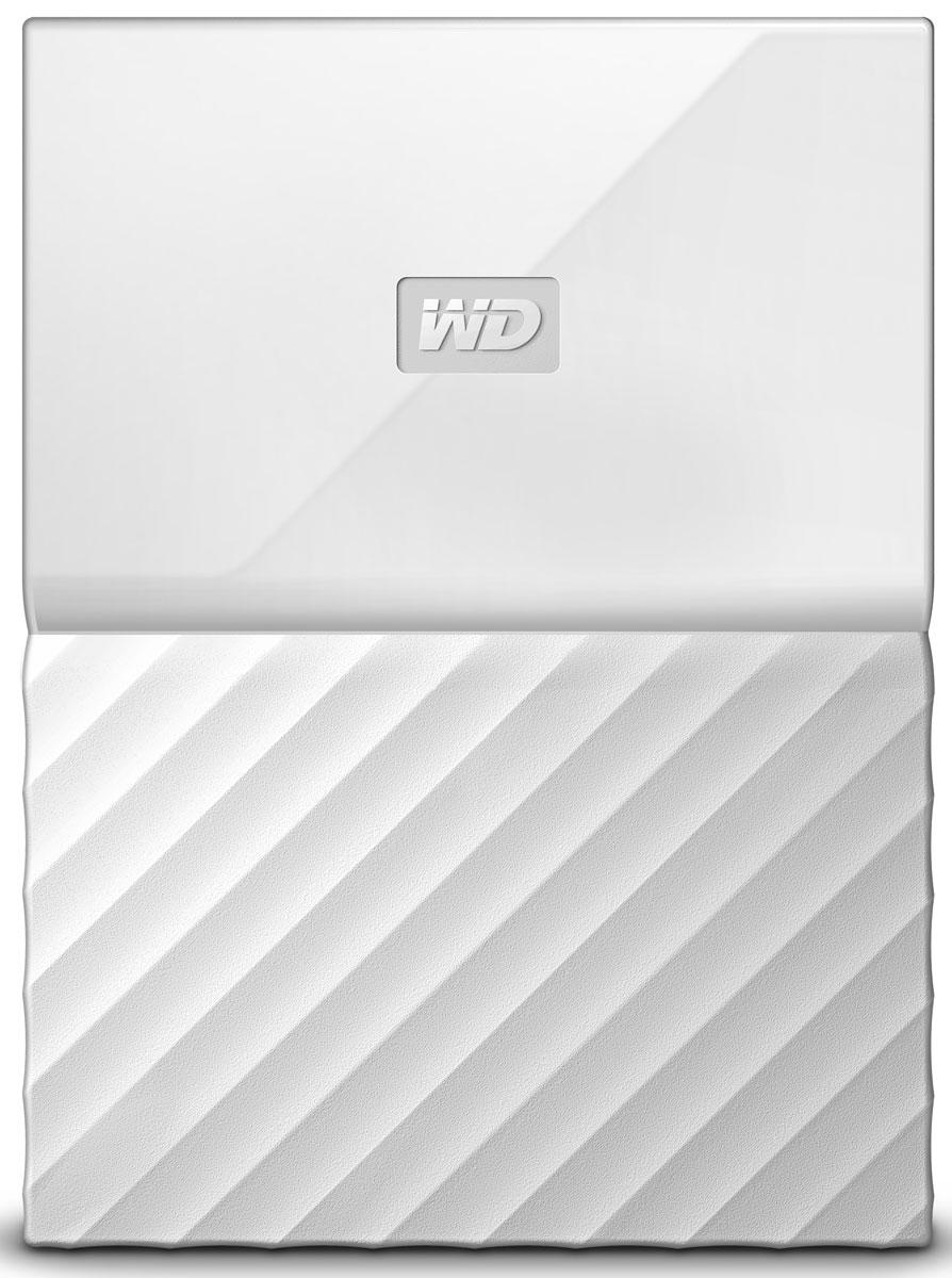 WD My Passport 1TB, White внешний жесткий диск (WDBBEX0010BWT-EEUE) - Носители информации
