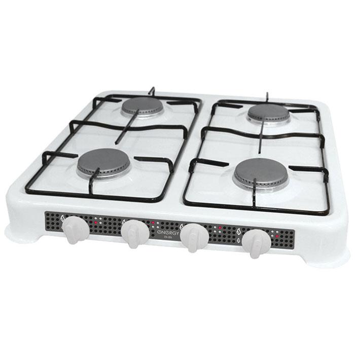 Energy EN-004, White настольная плита54 144029Energy EN-004 - компактная настольная плита, которая работает на сжиженном нефтяном газе. 4 конфорки позволят вам приготовить еду для всей семьи. Благодаря своим габаритам, данная модель отлично подойдет для небольшой кухни на даче. Она изготовлена из качественных материалов и прослужит вам долгое время.Давление газа: 2800 PaМощность: 4 x 3200 Вт