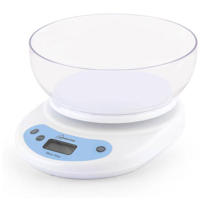 HomeStar HS-3001, White кухонные весы54 002661HomeStar HS-3001 - электронные кухонные весы с LCD-дисплеем, функцией тары и автоматического отключения. Данная модель имеет чашу круглой формы объемом 1,2 л для максимально удобного процесса взвешивания. Это простой и быстрый способ проверить вес продуктов и других товаров.