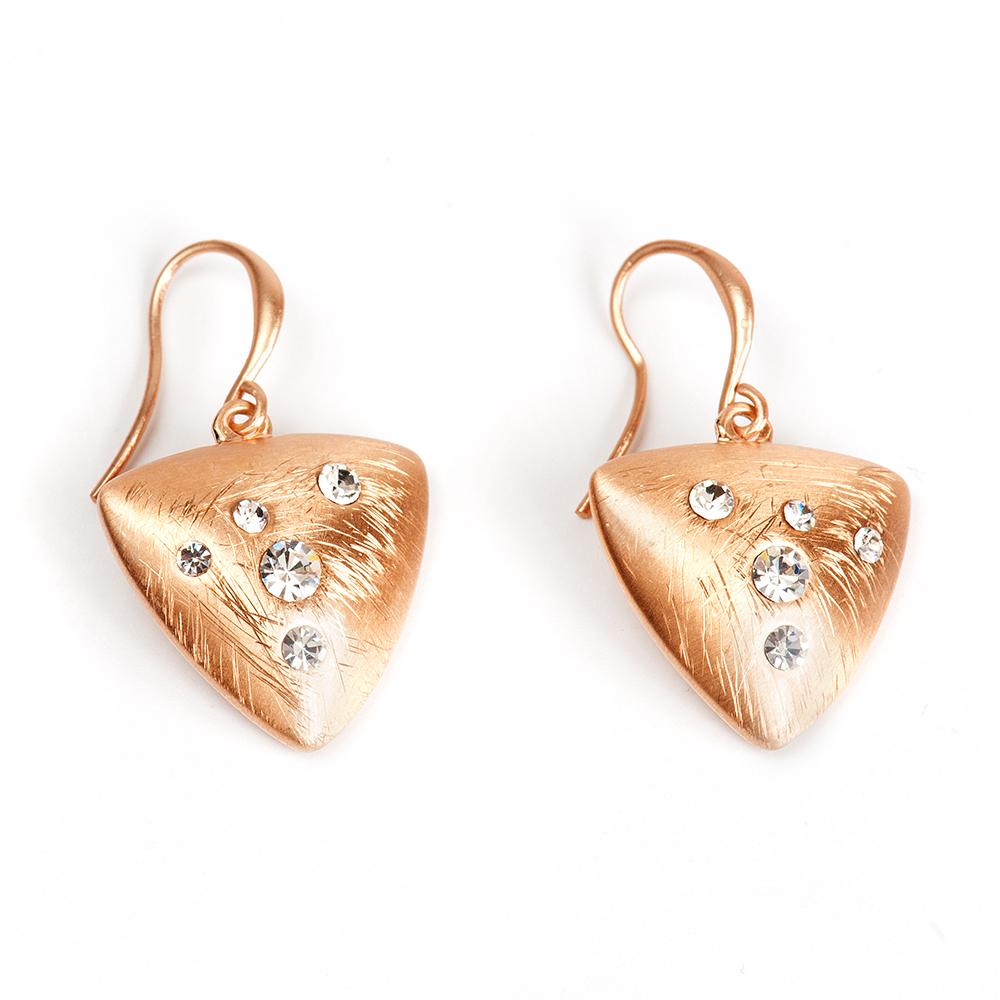 Серьги Selena, цвет: золотистый. 20094010Серьги с подвескамиЛатунь, кристаллы Preciosa. Гальваническое покрытие: матовое золото., длина серег 3.5 см ширина 2 см