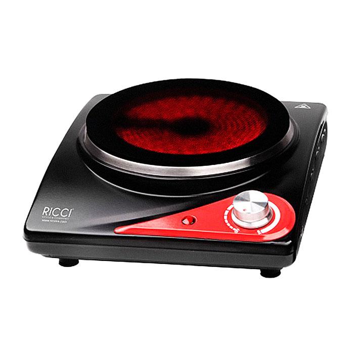 Ricci RIC-3106, Black Red инфракрасная настольная плита17 RIC-3106Настольная инфракрасная варочная плитка Ricci RIC-3106 для быстрого разогрева и приготовления разнообразных блюд имеет плавную регулировку температуры и световой индикатор включения, а благодаря компактным размерам станет незаменимым помощником на даче или небольшой кухне. Защита от перегрева обеспечивает безопасное использование прибора.Корпус: окрашенный, матовый