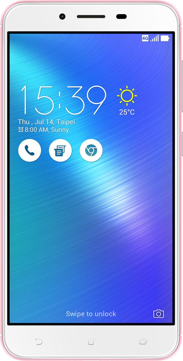 ASUS ZenFone 3 Max ZC553KL, Pink (90AX00D4-M00290)90AX00D4-M00290Вы живете активной жизнью, а ваш смартфон к середине дня уже разряжен? Тогда вам нужен новый ZenFone 3 Max. Аккумулятор емкостью 4100 мАч позволит пользоваться этим смартфоном с раннего утра до поздней ночи. Работайте продуктивнее, и развлекайтесь ярче - ZenFone 3 Max поможет вам жить еще активнее!С новым 5,5-дюймовым ZenFone 3 Max вам больше не придется беспокоиться о том, что смартфон разрядится в самый неподходящий момент, ведь благодаря большой емкости аккумулятора (4100 мАч), ZenFone 3 Max может работать до 33 дней в режиме ожидания. Чем больше емкость аккумулятора, тем больше пользы от смартфона, ведь каждый хочет получить максимум от своего мобильного устройства, не прибегая к подзарядке: пролистать больше веб-сайтов, просмотреть больше видеороликов и пообщаться с большим числом друзей, чем при использовании обычных смартфонов.Емкость аккумулятора ZenFone 3 Max составляет целых 4100 мАч, поэтому вы с легкостью сможете использовать смартфон в качестве мобильного зарядного устройства для других гаджетов.Емкости аккумулятора в современном смартфоне никогда не бывает много. Именно поэтому инженеры компании Asus разработали две специальных энергосберегающих технологии, позволяющие продлить время автономной работы ZenFone 3 Max. Даже если уровень заряда аккумулятора упадет до 10%, вы сможете увеличить время работы смартфона в режиме ожидания на дополнительные 30 часов, просто активировав функцию суперэкономии.ZenFone 3 Max сочетает в себе все самое лучшее: дисплей, покрытый защитным стеклом с закругленными краями, эргономичный корпус с изогнутой задней панелью, стильные цвета. Это шедевр современного дизайна и инновационных технологий, который не захочется выпускать из рук.Расположенный на задней панели сканер отпечатка пальца служит не только для моментальной разблокировки смартфона, но и поддерживает несколько других полезных функций. Например, проведя по нему сверху вниз, вы активируете фронтальную