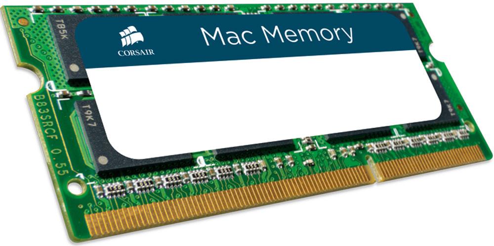 Corsair Mac Memory DDR3 4Gb 1066 МГц модуль оперативной памяти (CMSA4GX3M1A1066C7)CMSA4GX3M1A1066C7Модуль расширения памяти для Mac от Corsair емкостью 4 ГБ повысит производительность вашей системы. Благодаря отсутствию проблем совместимости, надежности и знаменитой поддержке Corsair он является оптимальным выбором для улучшения производительности.Модули памяти Corsair признаны пригодными для работы с любым ноутбуком или настольным компьютером Mac с поддержкой DDR3 SODIMM емкостью 4 ГБ, включая модели iMac, Mac mini, Mac Pro, MacBook, MacBook Pro и MacBook Air. В их число входят практически все модели Apple, выпущенные с 2009 г.