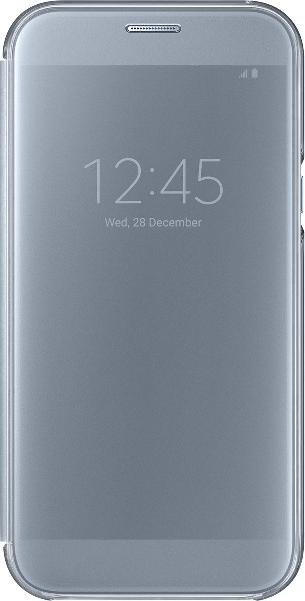 Samsung EF-ZA720 ClearView чехол для Galaxy A7 (2017), BlueEF-ZA720CLEGRUЧехол-книжка Samsung ClearView для Samsung Galaxy A7 2017 надежно защитит ваш смартфон от пыли, грязи, царапин, оставив при этом свободный доступ ко всем разъемам устройства. Чехол Samsung ClearView - это стильная и элегантная деталь вашего образа, которая всегда обращает на себя внимание среди множества вещей.