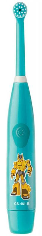 CS Medica KIDS CS-461-B, Light Blue электрическая зубная щеткаKIDS CS-461-BCS Medica KIDS CS-461-B - электрическая зубная щетка для мальчиков со съемной насадкой.Модель состоит из основания-ручки и сменной насадки с малой круглой вращающейся головкой. Щетинки мягкие, не травмируют зубки и десны ребенка. Головка щетки, бережно совершая 18 000 возвратно-вращательных движений в минуту, производит всестороннюю очистку поверхности зубов.Главная отличительная особенность электрических ротационных щеток CS Medica KIDS CS – 461 от других щеток этого вида в том, что насадку с круглой вращающейся головкой можно быстро и просто заменить на новую.Яркие герои привлекут внимание детей и превратят обычный процесс чистки зубов в увлекательное занятие-игру в мире фантазий и грез.