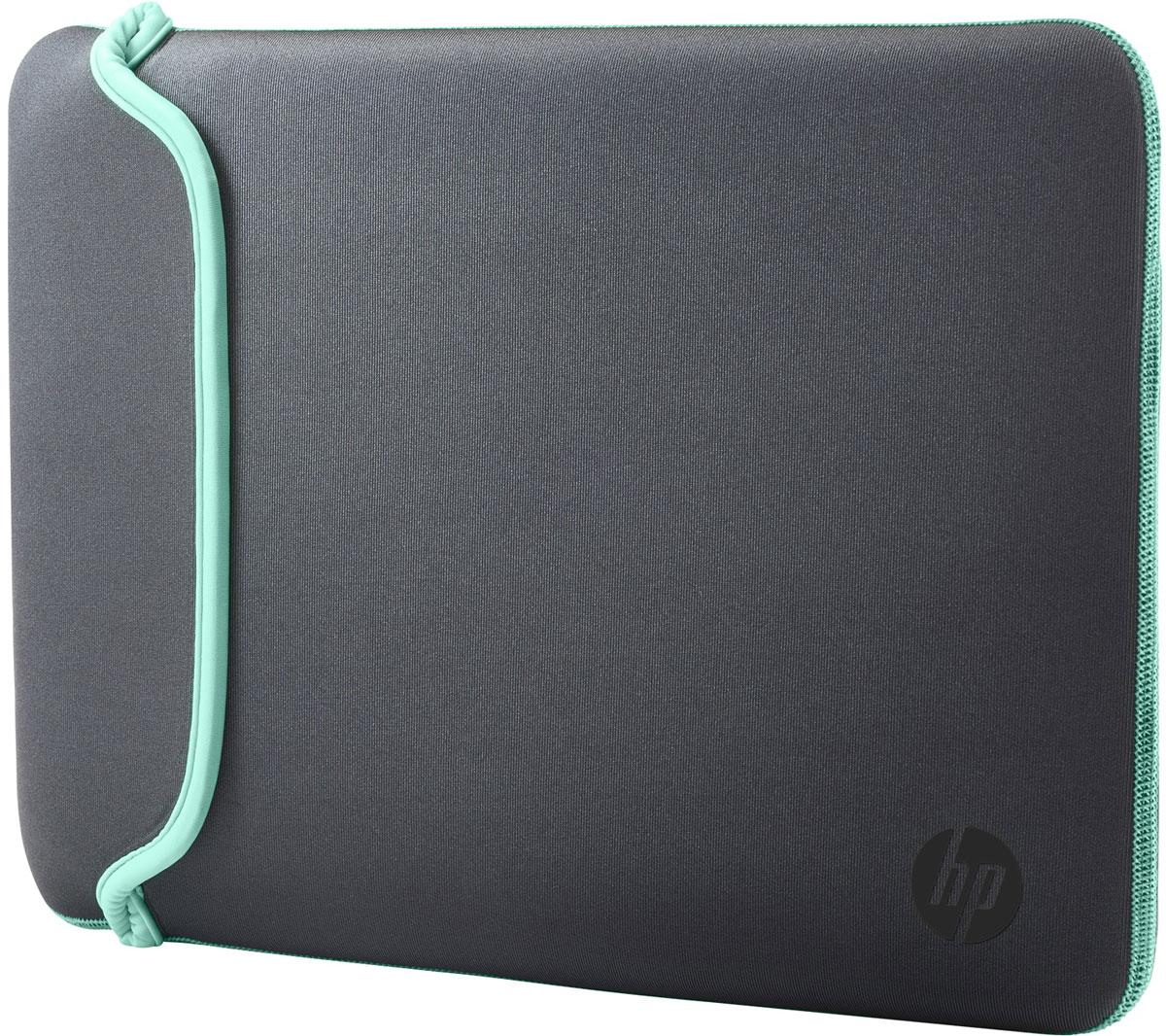 HP Neoprene Sleeve чехол для ноутбука 14, Grey Green (V5C29AA)1000398661Поместите свой ноутбук в этот яркий и надежный цветной чехол HP Neoprene Sleeve. Этот прочный неопреновый чехол защищает ваш ПК от внешних воздействий, ударов и царапин. Аксессуар выполнен из двустороннего материала, так что вы в любой момент можете изменить его цвет.