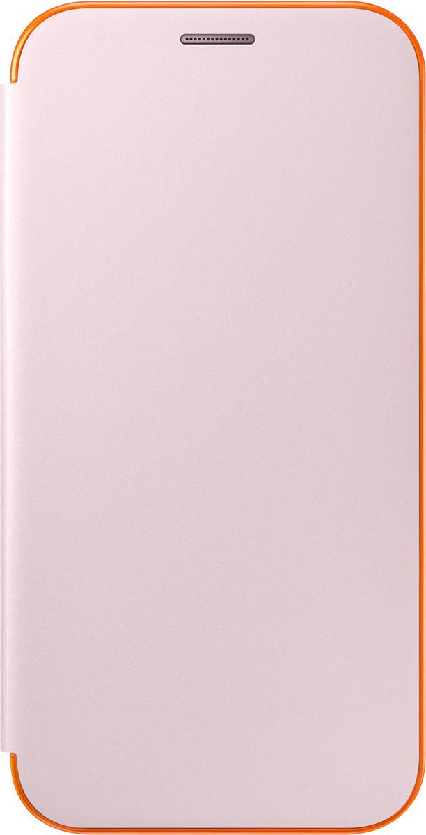 Samsung EF-FA720 FlipCover Neon чехол для Galaxy A7 (2017), PinkEF-FA720PPEGRUЧехол Neon Flip Cover создан для качественной защиты смартфона Samsung Galaxy A7 (2017) с учетом его особенностей. Он плотно прилегает к девайсу и защищает от пыли и царапин. Чехол выполнен из материалов высокого качества, приятен на ощупь, не увеличивает габаритов смартфона, подчеркивая его тонкую форму и современный стиль.