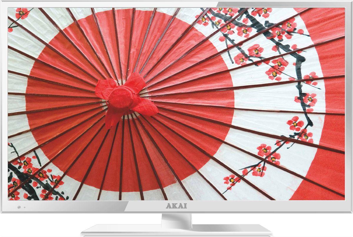 Akai LEA-24B53W телевизорLEA-24B53WТелевизор Akai LEA-24B53W соответствует всем современным технологиям и оборудован LED подсветкой, уменьшающей его толщину. Корпус из высококачественного пластика с экраном диагональю 23,6 дюймов впишется в любой интерьер. Источником сигнала для качественной реалистичной картинки служат не только цифровые эфирные и кабельные каналы, но и любые записи с внешних носителей, благодаря универсальному встроенному USB медиаплееру. Телевизор можно расположить как на столе, так и на настенном кронштейне, который приобретается отдельно. Akai LEA-24B53W обеспечит изображение высокого качества в формате Full HD (1920x1080).Формат экрана: 16:9 Яркость: 200 кд/м2 Контрастность: 1000:1 Время отклика матрицы: 8 мс