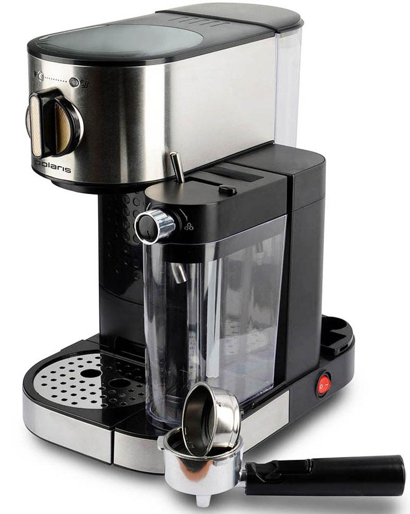 Polaris PCM 1519AE Adore Cappuccino кофеварка7293Кофеварка Polaris PCM 1519AE Adore Cappuccino предназначена для приготовления кофе из предварительно размолотых зёрен путём прохождения под давлением нагретой питьевой воды через слой молотого кофе, находящегося в фильтре. Она поможет не только проснуться, но получить отличный заряд бодрости на весь день.Polaris PCM 1519AE - совершенство технологий и стиля: давление в 15 бар идеально подходит для созданиякофе с интенсивным ароматом. А благодаря компактному размеру, стильному матовому покрытию и мягкой подсветке кнопок кофеварка станет украшением вашей кухни.