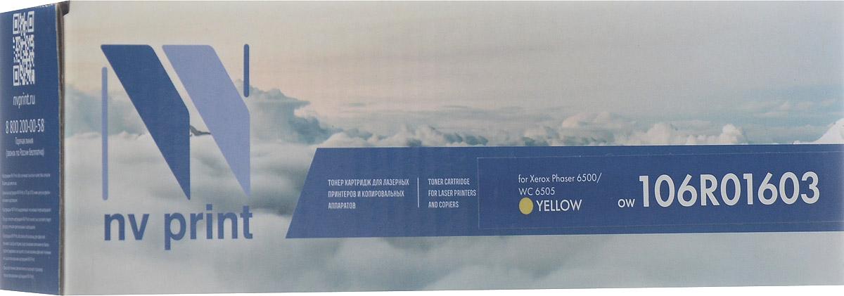 NV Print 106R01603, Yellow тонер-картридж для Xerox Phaser 6500/WorkCentre 6505NV-106R01603YСовместимый лазерный картридж NV Print 106R01603Y для печатающих устройств Xerox Phaser 6500/WorkCentre 6505 - это альтернатива приобретению оригинальных расходных материалов. При этом качество печати остается высоким. Тонер картриджи NV Print, спроектированные и разработанные с применением передовых технологий, наилучшим образом приспособлены для эффективной работы печатного устройства. Все компоненты оптимизируют процесс печати и идеально сочетаются в течение всего времени работы, что дает вам неизменно качественные результаты при использовании вашего лазерного принтера.Лазерные принтеры, копировальные аппараты и МФУ являются более выгодными в печати, чем струйные устройства, так как лазерных картриджей хватает на значительно большее количество отпечатков, чем обычных. Для печати в данном случае используются не чернила, а тонер.