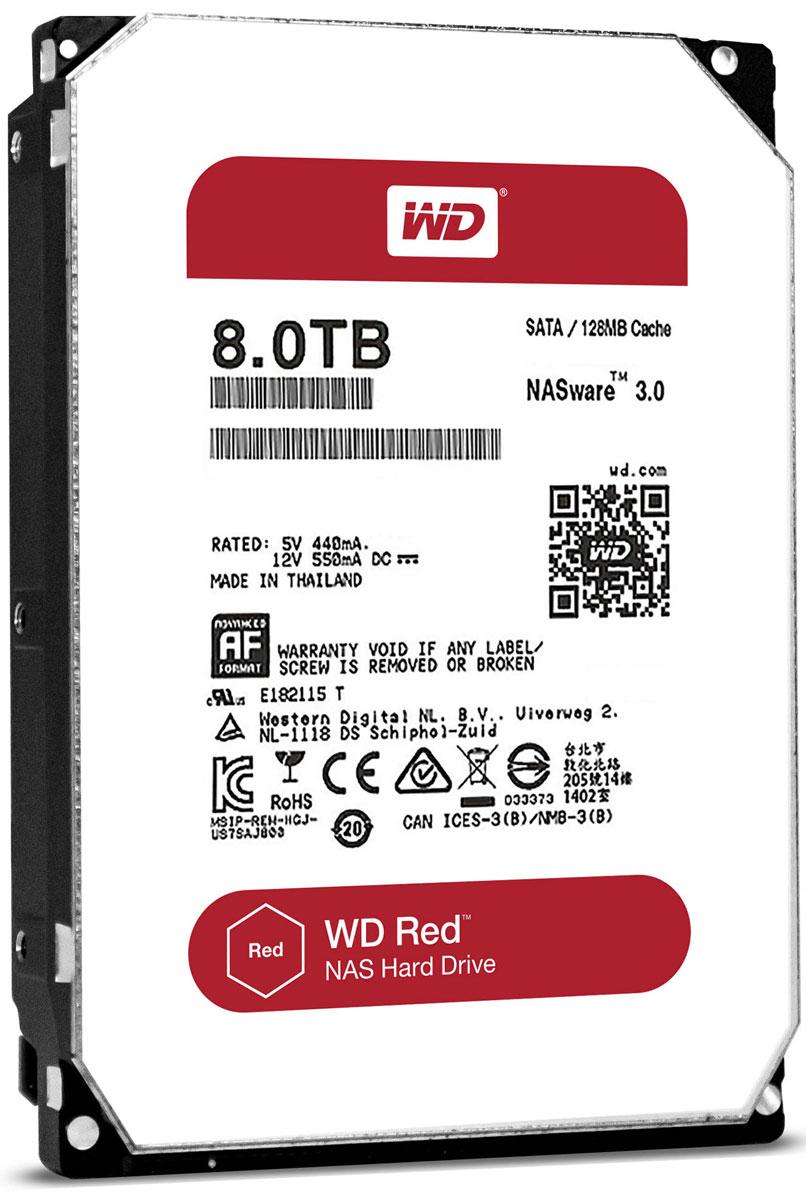 WD Red 8TB внутренний жесткий диск (WD80EFZX)WD80EFZXЧтобы быстро и удобно транслировать медиафайлы, создавать резервные копии данных, хранящихся на ПК, обмениваться файлами и работать с цифровыми материалами, установите в сетевом устройстве хранения накопители WD Red. Удобная интеграция, надежная защита данных и оптимальное быстродействие для систем NAS с высокими требованиями.Транслируйте цифровые материалы, выполняйте их резервное копирование, систематизируйте их и отправляйте на телевизор, ПК и другие устройства. Технология NASware повышает совместимость ваших накопителей с системами NAS, обеспечивая тем более высокое качество воспроизведения цифровых материалов на устройствах.В основе процветания любого бизнеса лежат производительность и эффективность. И именно этими двумя принципами WD руководствовались, разрабатывая накопители Red. Благодаря накопителю WD Red в системах NAS вы сможете предоставлять общий доступ к файлам и выполнять их резервное копирование с той же скоростью, с какой работает ваша компания.Доступная для загрузки бесплатная программа Acronis True Image WD Edition позволяет клонировать диски, а также создавать резервные копии операционной системы, приложений, настроек и всех данных.