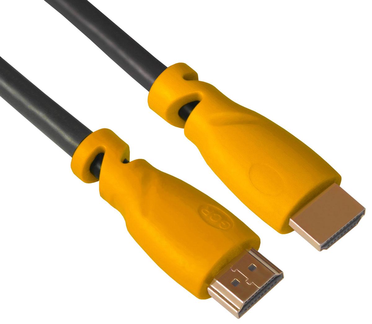 Greenconnect GCR-HM340 кабель HDMI (1 м)GCR-HM340-1.0mКабель HDMI v 1.4 Greenconnect GCR-HM340 - отличное решение для подключения компьютера, игровых консолей, DVD и Blu-ray плееров, аудио-ресиверов к телевизору или дополнительному монитору. Кабель HDMI поддерживает как стандартные, так и высокие разрешения самых современных моделей телевизоров.Greenconnect GCR-HM340 поддерживает 4K, Full HD и HD разрешения. Это даёт возможность наслаждаться более точной и естественной картинкой с высочайшим уровнем детализации и диапазоном цветов. Использование кабеля позволяет передавать изображение в столь популярном формате 3D, усиливая элемент присутствия и позволяя получать удовольствие от качественного объёмного изображения.Кабель оснащен двунаправленным каналом для передачи сетевых данных, который подходит для использования IP-приложениями. Канал Ethernet позволяет нескольким устройствам работать в сети Ethernet без необходимости подключения дополнительных проводов, а также напрямую обмениваться контентом. Наличие обратного канала аудио устраняет необходимость в отдельном проводе для передачи звука в ресивер с телевизора или другого устройства, которое является одновременно источником аудио и видео.Максимальная скорость передачи данных по HDMI кабелю Greenconnect GCR-HM340 до 10,2 Гбит/с. Высокая скорость обеспечивает передачу больших объёмов данных за кратчайшее время. Позволяет передавать данные в онлайн режиме без потери качества. Экранирование кабеля защищает сигнал при передаче от влияния внешних полей, способных создать помехи.Внешняя оболочка кабеля Greenconnect GCR-HM340 изготовлена из экологически чистого PVС, соответствующего европейскому стандарту безотходного производства RoHS. Коннектор HDMI кабеля способен выдержать более 10 тысяч подключений, благодаря высококачественным материалам и практичному дизайну.
