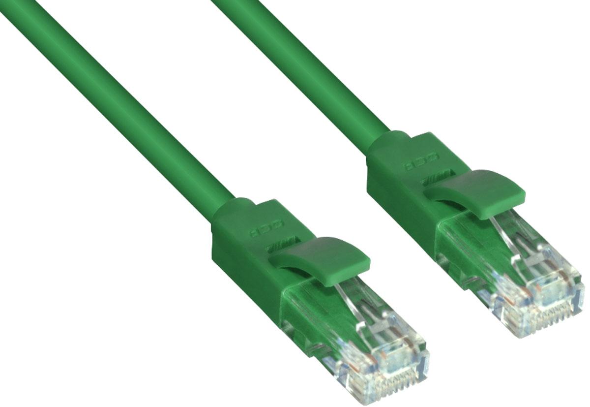 Greenconnect GCR-LNC05 патч-корд (10 м)GCR-LNC05-10.0mВысокотехнологичный современный литой патч-корд Greenconnect GCR-LNC05 используется для подключения к интернету на высокой скорости. Подходит для подключения персональных компьютеров или ноутбуков, медиаплееров или игровых консолей PS4 / Xbox One, а также другой техники и устройств, у которых есть стандартный разъем подключения кабеля для интернета LAN RJ-45. Соответствие сетевого патч-корда Greenconnect GCR-LNC05 современному стандарту UTP Cat5e обеспечивает возможность подключения к интернету со скоростью до 1 Гбит/с. С такой скоростью любимые фильмы будут загружаться меньше чем за полминуты, а музыка - мгновенно. Внешняя оболочка сетевого кабеля Greenconnect изготовлена из экологически чистого ПВХ, соответствующего европейскому стандарту безотходного производства RoHS.