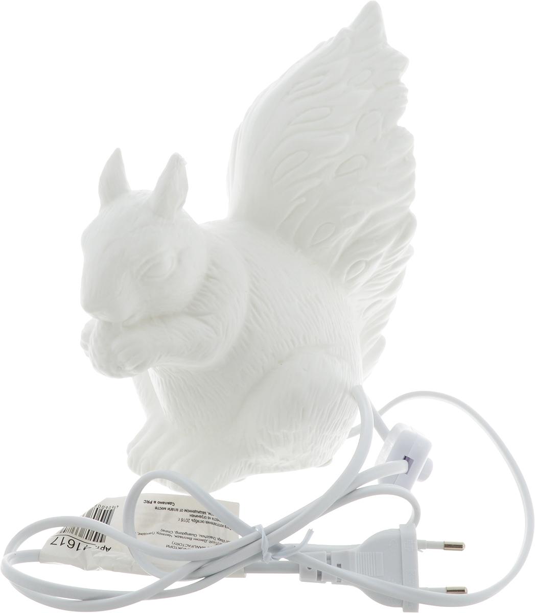 Лампа настольная Феникс-Презент Белка, цвет: белый, 17 х 12 х 19 см лампа настольная феникс презент белка цвет белый 17 х 12 х 19 см