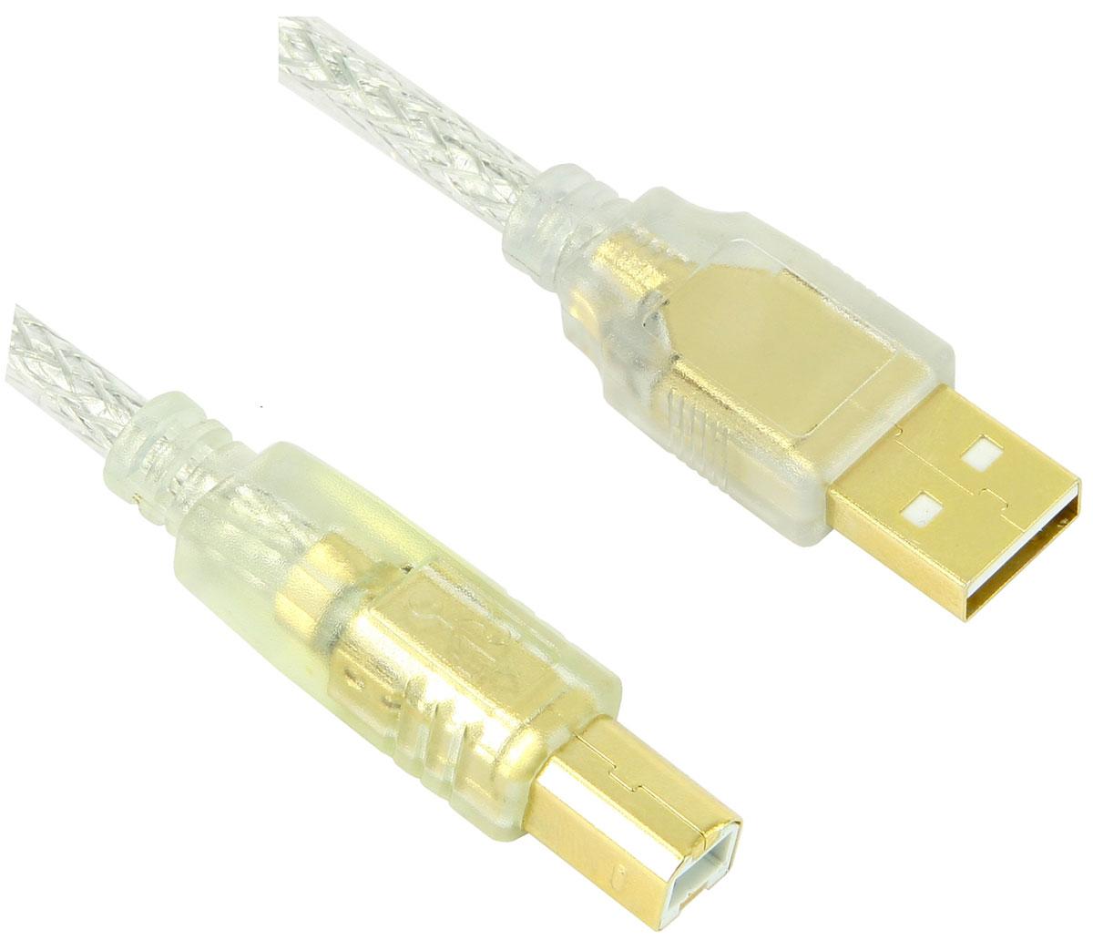Greenconnect GCR-UPC2M-BD2SG кабель интерфейсный USB 2.0 тип A/B (1 м)GCR-UPC2M-BD2SG-1.0mКабель Greenconnect GCR-UPC2M-BD2SG необходим для подключения к компьютеру принтера, камеры, сканера, МФУ и других устройств с разъемом USB тип B. Экранирование гарантированно защищает сигнал от помех и искажений.