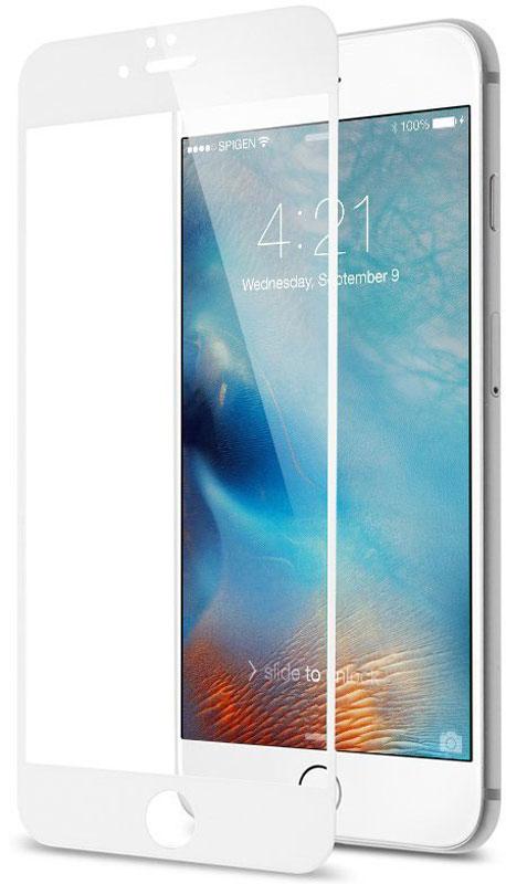 uBear Nano Full Cover Premium Glass защитное стекло для iPhone 7 Plus, WhiteGL09WH03-I7PЗащитное стекло uBear Nano Full Cover Premium Glass для iPhone 7 Plus обеспечивает надежную защиту сенсорного экрана устройства от большинства механических повреждений и сохраняет первоначальный вид дисплея, его цветопередачу и управляемость. Закаленное стекло имеет нанометровое напыление, которое препятствует скоплению жира и грязи, а пленка с олеофобным покрытием в случае разбития стекла не позволяет ему разлететься на кусочки. Стекло закрывает весь экран iPhone.
