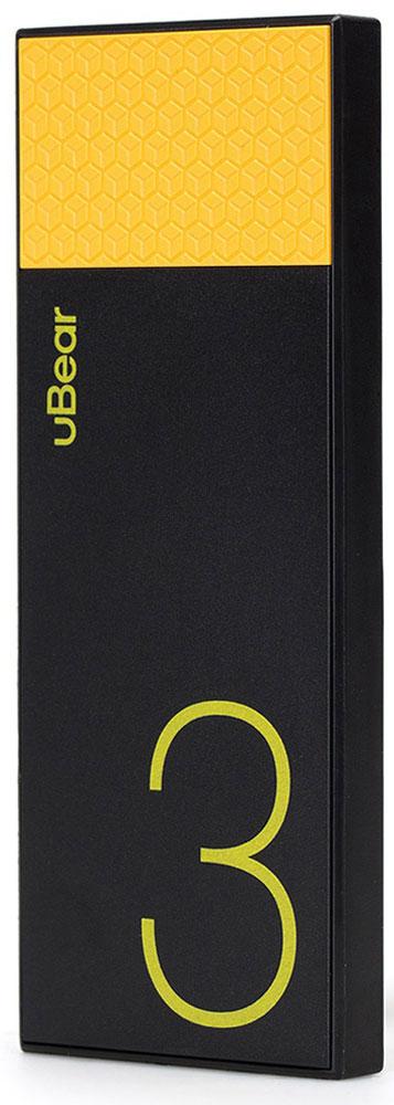 uBear Light 3000, Black Yellow внешний аккумуляторPB05BL3000-ADВнешний аккумулятор uBear Light 3000 покорит вас своим внешним видом с первого взгляда. Высококачественный пластик и невероятно яркий и тонкий дизайн. Аккумулятор прекрасно будет сочетаться с вашим смартфоном или планшетом, поддерживая их изящный стиль.Технические характеристики на высоте: LED-индикатор заряда, защита от короткого замыкания, перегрева, большое количество циклов перезарядки.