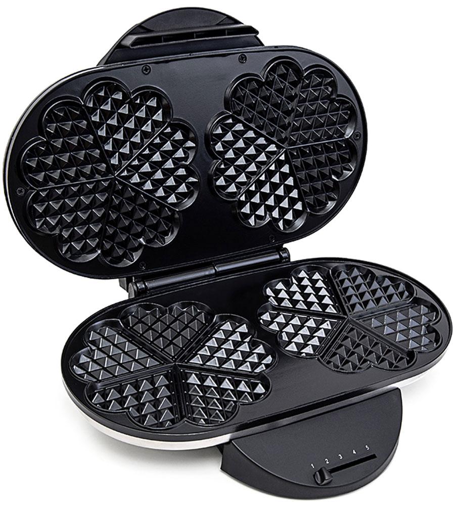 Kitfort КТ-1605 вафельницаКТ-1605Электрическая вафельница Kitfort КТ-1605 поможет испечь венские и бельгийские вафли. Она оснащена световыми индикаторами включения и готовности к работе, независимыми нагревателями в каждой половинке формы и отсеком для хранения шнура. С помощью регулируемого термостата настраивается температура выпечки. Противоскользящие ножки не дают прибору скользить по столу во время готовки.Корпус выполнен из нержавеющей стали, а формы для выпечки покрыты антипригарным покрытием и рассчитаны сразу на две порции вафель.