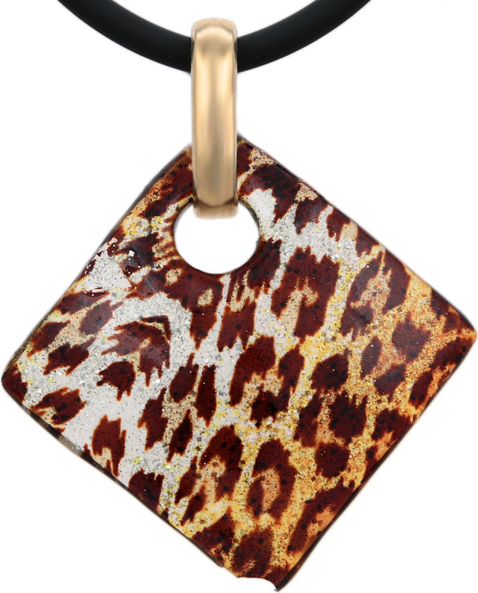 Кулон на шнурке Золотой леопард. Муранское стекло, шнурок из каучука, ручная работа. Murano, Италия (Венеция)Брошь-кулонКулон на шнурке Золотой леопард.Муранское стекло, шнурок из каучука, ручная работа.Murano, Италия (Венеция).Размер:Кулон - 3 х 3 см.Шнурок - полная длина 45 см.Каждое изделие из муранского стекла уникально и может незначительно отличаться от того, что вы видите на фотографии.