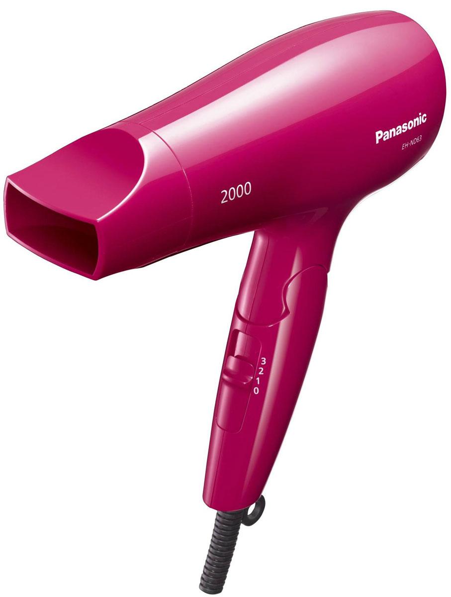 Panasonic EH-ND63-P865 фенEH-ND63-P865Если вам нужно быстро высушить волосы, фен Panasonic EH-ND63-P865 отлично справится с этой работой. Мощный поток горячего воздуха распределяет тепло по всей длине волос, от корней до самых кончиков. Это позволит сэкономить драгоценное утреннее время. Сочетание большой мощности в 2000 Вт с новой конструкцией устройства направления воздушного потока повышает производительность при сушке.Эргономичная форма и хорошая балансировка по весу обеспечивают надежное удержание Panasonic EH-ND63-P865в руке. Поскольку этот фен легко держать в руке, им можно пользоваться, не уставая, длительное время. Благодаря компактной складной конструкции фен занимает мало места, что удобно при редком использовании, а также в поездках.