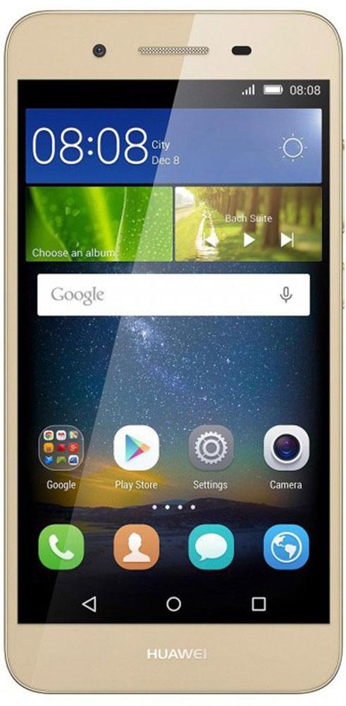 Huawei GR3 LTE (TAG-L21), Gold51090EGHHuawei GR3 - стильный и недорогой смартфон с широкими возможностями.Восьмиядерный процессор MediaTek MT6753T с частотой 1.5 ГГц позволяет использовать все современные мобильные приложения.Коммуникационные возможности представлены Bluetooth 4.0, Wi-Fi 802.11 b/g/n при помощи которых можно воспользоваться беспроводной гарнитурой или подключиться к интернету. Также Huawei GR3 не даст вам заблудится в городе и всегда укажет дорогу благодаря функции GPS. Модель оборудована стандартными разъемами - 3.5 мм для подключения наушников и microUSB - для зарядки и присоединения к USB-порту компьютера.Huawei GR3 также обладает функциональным мультимедиа-плеером, способным воспроизводить аудио и видео-файлы самых популярных форматов. Девайс обладает двумя слотами для SIM-карт, слотом для карт памяти microSD (до 128 ГБ).Смартфон оснащен двумя камерами: основной на 13 мегапикселей и фронтальной на 5 мегапикселей. Основная камера отлично справляется со съемкой в слабо освещенных местах, а фронтальная идеально подойдет для видеозвонков и селфи.Телефон сертифицирован EAC и имеет русифицированный интерфейс меню, а также Руководство пользователя.