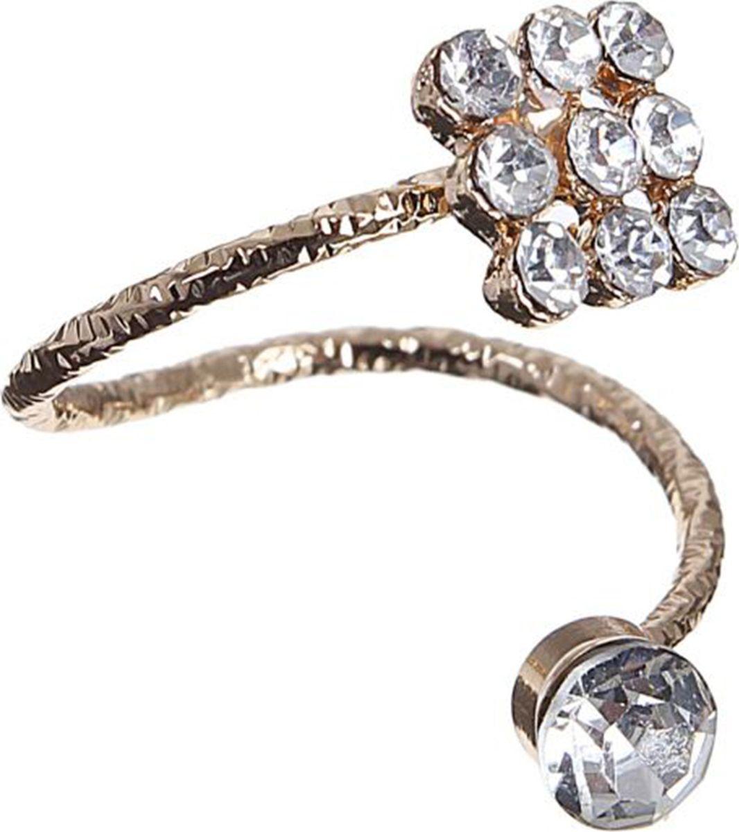 Кольцо Mitya Veselkov Классика, цвет: золотистый. 1503346Коктейльное кольцоОригинальное кольцо Mitya Veselkov Классика изготовлено из гипоаллергенного бижутерного сплава. Изделие выполнено с вкраплениями из страз.