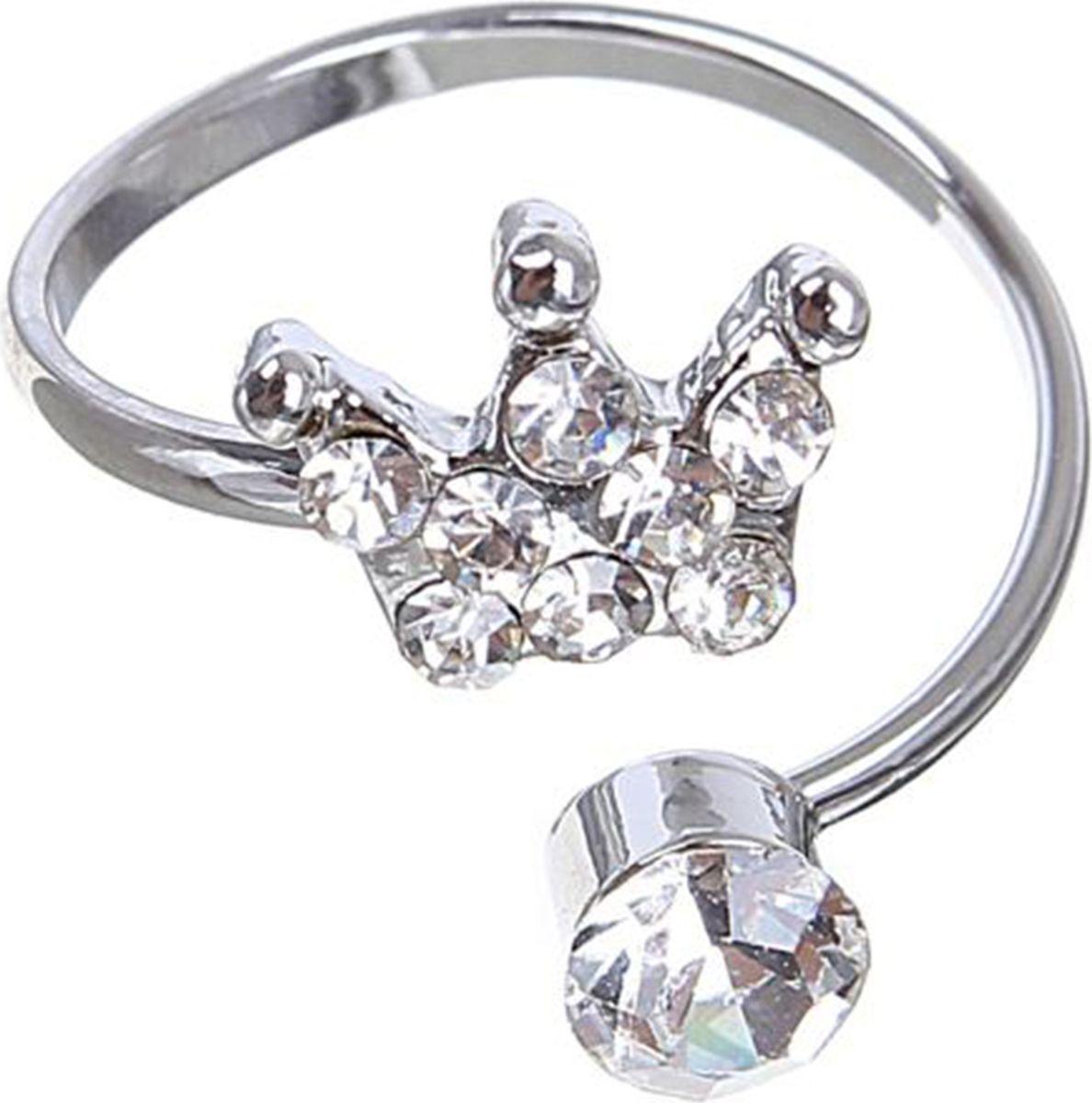 Кольцо Mitya Veselkov Корона, цвет: серебристый. 1503350Коктейльное кольцоОригинальное кольцо Mitya Veselkov Корона изготовлено из гипоаллергенного бижутерного сплава. Изделие выполнено в виде короны с вкраплениями из страз.