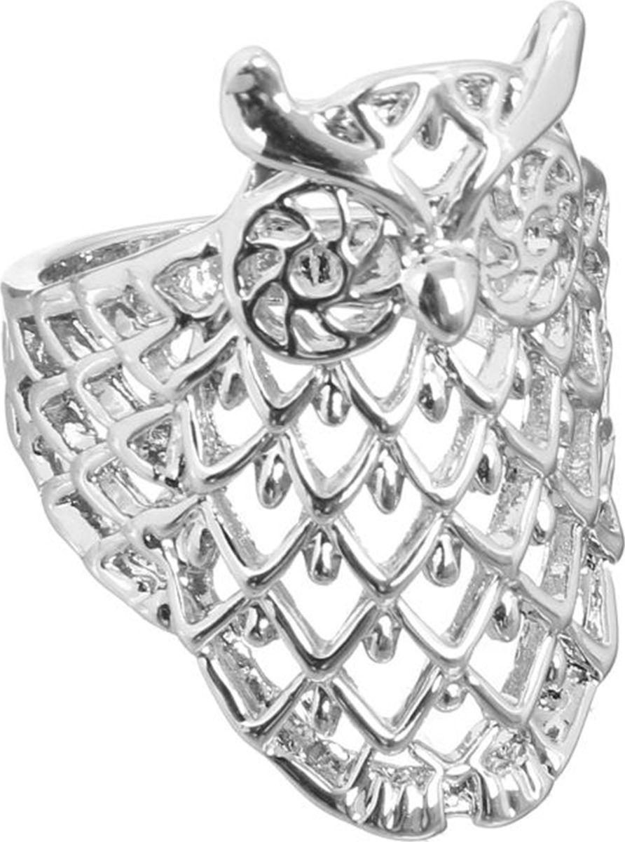 Кольцо Mitya Veselkov Сова, цвет: серебристый. 1733833. Размер 17Коктейльное кольцоОригинальное кольцо Mitya Veselkov Сова изготовлено из гипоаллергенного бижутерного сплава. Кольцо выполнено в виде совы.