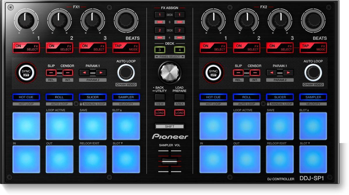 Pioneer DDJ-SP1 DJ контроллер среднего уровня386587Pioneer DDJ-SP1 - контроллер-дополнение для Serato DJ, сделанный для большей свободы и нового уровня креативности диджея.Просто добавьте DDJ-SP1 к своему комплекту, состоящему, например, из плееров с таймкод-дисками и микшера DJM-900SRT или контроллера DDJ-S1, и вы сможете управлять шестью семплами, восемью горячими точками и более чем тридцатью эффектами. И все это без необходимости использования клавиатуры или мышки.Шестнадцать прорезиненных клавиш со светодиодной подсветкой в режиме Velocity добавляют новые возможности для управления семплами.Пэды работают в семи режимах: горячие точки, слайсер, ролл, семплер, горячие петли, автоматические и ручные петли, динамика. Все пэды чувствительны к силе нажатия. Световая индикация показывает режим работы.Можно управлять четырьмя деками одновременно, и редактировать в прямом эфире одновременно на двух.DJ-контроллер сделан так, чтобы выдерживать работу в жестких условиях. В его арсенале — долговечные и стильные алюминиевые лицевые панели и прорезиненные кнопки.Форматы воспроизведения: AAC / AIFF / MP3 / WAVПетли: Autoloop / Hot Loop / Manual loop / возврат к петле / настройка входа/выхода петлиТехнологии: контроль MIDI / питание от USB / система Plug & Play / управление видео