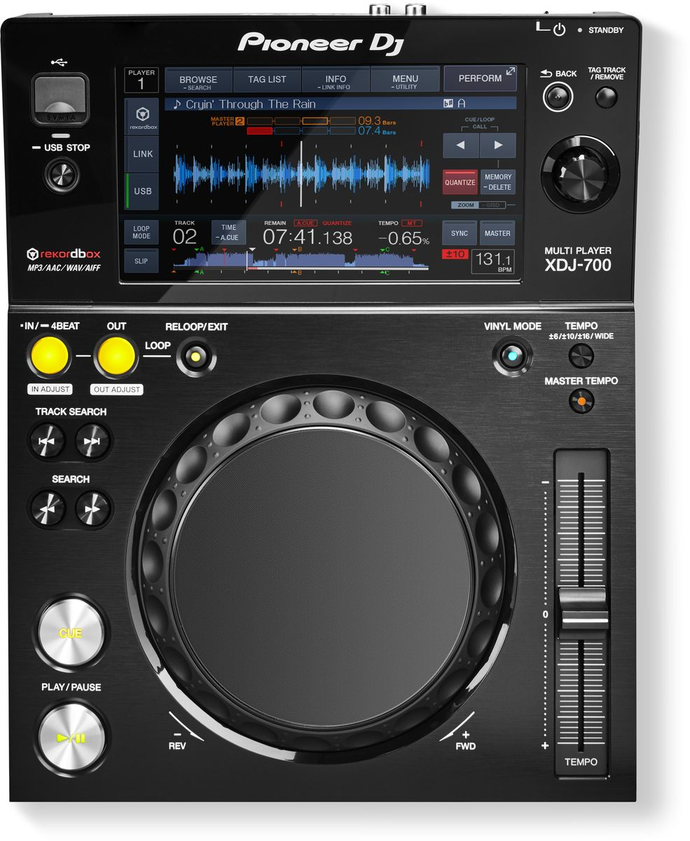 Pioneer XDJ-700 цифровой DJ проигрыватель среднего уровня - DJ-оборудование