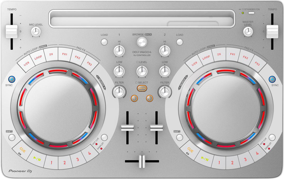 Pioneer DDJ-WEGO4-W DJ контроллер для начинающих