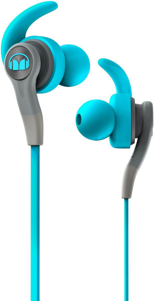 Monster iSport Compete In-Ear, Blue наушники137083-00Хотите выжать максимум из своих спортивных наушников? Тогда Monster iSport Compete In-Ear для вас!Запатентованные технологии Monster делают эти наушники лидером среди спортивных моделей. Технология Pure Monster Sound обеспечивает чистый и мощный звук, а сменные насадки - абсолютный комфорт при длительном ношении. Добавьте к этому высокую звукоизоляцию, защитное покрытие от воздействия пота и прочную конструкцию.Теперь у вас есть все для интенсивной тренировки!