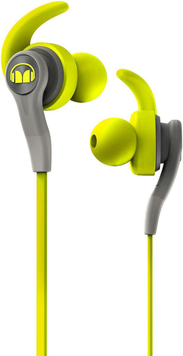 Monster iSport Compete In-Ear, Green наушники аудио наушники monster наушники с микрофоном monster clarity hd white in ear headphones