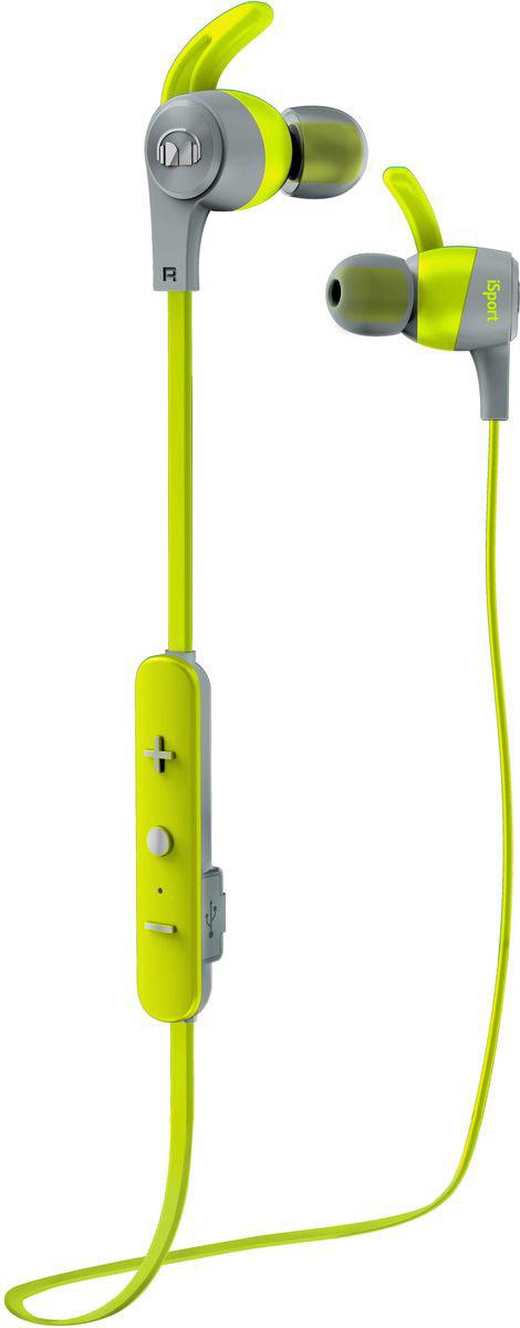 Monster iSport Achieve In-Ear Wireless, Green наушники137088-00Вставные спортивные наушники iSport Achieve In-Ear Wireless с запатентованными технологиями Monster - лучшие в своем ценовом сегменте.Эксклюзивное крепление SecureFit от Monster позволяет наушникам оставаться на месте в течении самой подвижной тренировки в тренажерном зале. Высокая шумоизоляция позволит сосредоточиться на треках, а покрытие с защитой от пота добиться наибольшей интенсивности тренировок с максимальным комфортом.