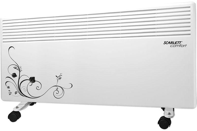 Scarlett SC-CH833/2000, White конвекторSC-CH833/2000Scarlett SC-CH833/2000 - электрический обогреватель с регулируемым термостатом. Вся конструкция прибора направлена на равномерное распределение тепла для обогрева с максимальным комфортом. Режим No-Frost (антизамерзания) позволяет автоматически поддерживать плюсовую температуру в помещении. Конвектор работает по принципу естественной конвекции. Холодный воздух, проходя через конвектор и его нагревательный элемент, нагревается и выходит сквозь решетки-жалюзи, незамедлительно начиная обогревать помещение. Способен обогревать комнату площадью до 20 квадратных метров.