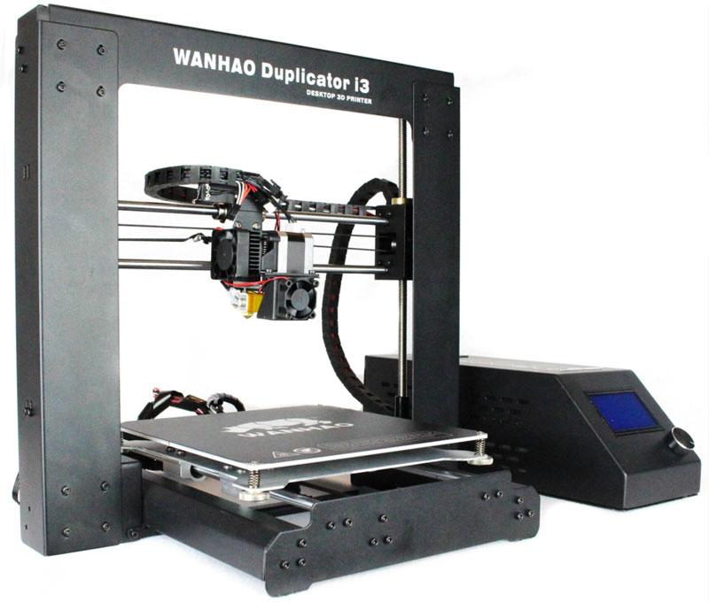 Wanhao Duplicator i3 v 2.1, Black 3D принтерУТ000007013Компания Wanhao представляет обновленную версию 3D принтера №1 в мире Wanhao Duplicator i3 v 2.1. За 2 года производства серии Di3 было собрано множество отзывов и пожеланий от конечных пользователей, которые помогли производителю сделать обновленную версию более свободной для маневров на 3D просторах.Основные отличия от предыдущей версии:Смена направляющих на подшипники LM8UU 45мм для лучшего бокового слежения Концевик (стоп энд) Z-оси стал теперь регулируемый по высоте, что позволяет свободно выбирать на какой платформе вы можете печатать, со стеклом или без него. Программное обеспечение (ПО). Компания приняла концепцию использования ПО с открытым исходным кодом в целях оптимизации процесса как профессионального использования, так и для начинающих пользователей. Использовать предварительно загруженный CURAWanhao Edition или выбрать из десятков свободных или коммерческихРазмер вентилятора обдува. У 2.1 он больше и сам кожух шире.Технология печати: FDM\FFFТип пластика: PLA (ПЛА), ABS (АБС)Размер области построения: 200 х 200 х 180 ммКоличество экструдеров (печатающих головок): 1Точность позиционирования по оси XY: 0.012 ммТочность позиционирования по оси Z: 0,0025 ммДиаметр нити (принтер): 1.75 ммВид намотки: катушкаДиаметр сопла: 0.4 мм (опционально 0.3/0.2)Рабочая температура экструдера: 180-240°CСкорость печати: 10-100 мм/сИнтерфейс подключения: USB, SDПрограммное обеспечение: Repetier/CURA /Simplify 3DОперационные системы: Linux, Vista, Mac OSX, Windows 7, Windows XPПоддерживаемые форматы файлов: STL, OBJ, Gcode