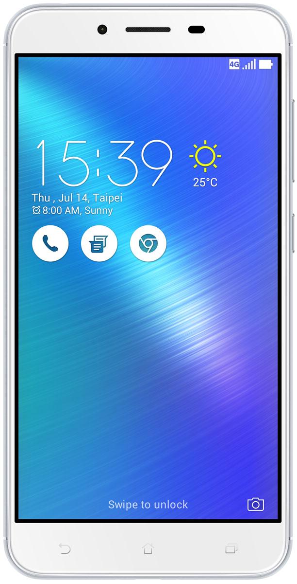 ASUS ZenFone 3 Max ZC553KL, Silver (90AX00D3-M00300)90AX00D3-M00300Вы живете активной жизнью, а ваш смартфон к середине дня уже разряжен? Тогда вам нужен новый ZenFone 3 Max. Аккумулятор емкостью 4100 мАч позволит пользоваться этим смартфоном с раннего утра до поздней ночи. Работайте продуктивнее, и развлекайтесь ярче - ZenFone 3 Max поможет вам жить еще активнее!С новым 5,5-дюймовым ZenFone 3 Max вам больше не придется беспокоиться о том, что смартфон разрядится в самый неподходящий момент, ведь благодаря большой емкости аккумулятора (4100 мАч), ZenFone 3 Max может работать до 33 дней в режиме ожидания. Чем больше емкость аккумулятора, тем больше пользы от смартфона, ведь каждый хочет получить максимум от своего мобильного устройства, не прибегая к подзарядке: пролистать больше веб-сайтов, просмотреть больше видеороликов и пообщаться с большим числом друзей, чем при использовании обычных смартфонов.Емкость аккумулятора ZenFone 3 Max составляет целых 4100 мАч, поэтому вы с легкостью сможете использовать смартфон в качестве мобильного зарядного устройства для других гаджетов.Емкости аккумулятора в современном смартфоне никогда не бывает много. Именно поэтому инженеры компании Asus разработали две специальных энергосберегающих технологии, позволяющие продлить время автономной работы ZenFone 3 Max. Даже если уровень заряда аккумулятора упадет до 10%, вы сможете увеличить время работы смартфона в режиме ожидания на дополнительные 30 часов, просто активировав функцию суперэкономии.ZenFone 3 Max сочетает в себе все самое лучшее: дисплей, покрытый защитным стеклом с закругленными краями, эргономичный корпус с изогнутой задней панелью, стильные цвета. Это шедевр современного дизайна и инновационных технологий, который не захочется выпускать из рук.Расположенный на задней панели сканер отпечатка пальца служит не только для моментальной разблокировки смартфона, но и поддерживает несколько других полезных функций. Например, проведя по нему сверху вниз, вы активируете фронтальн