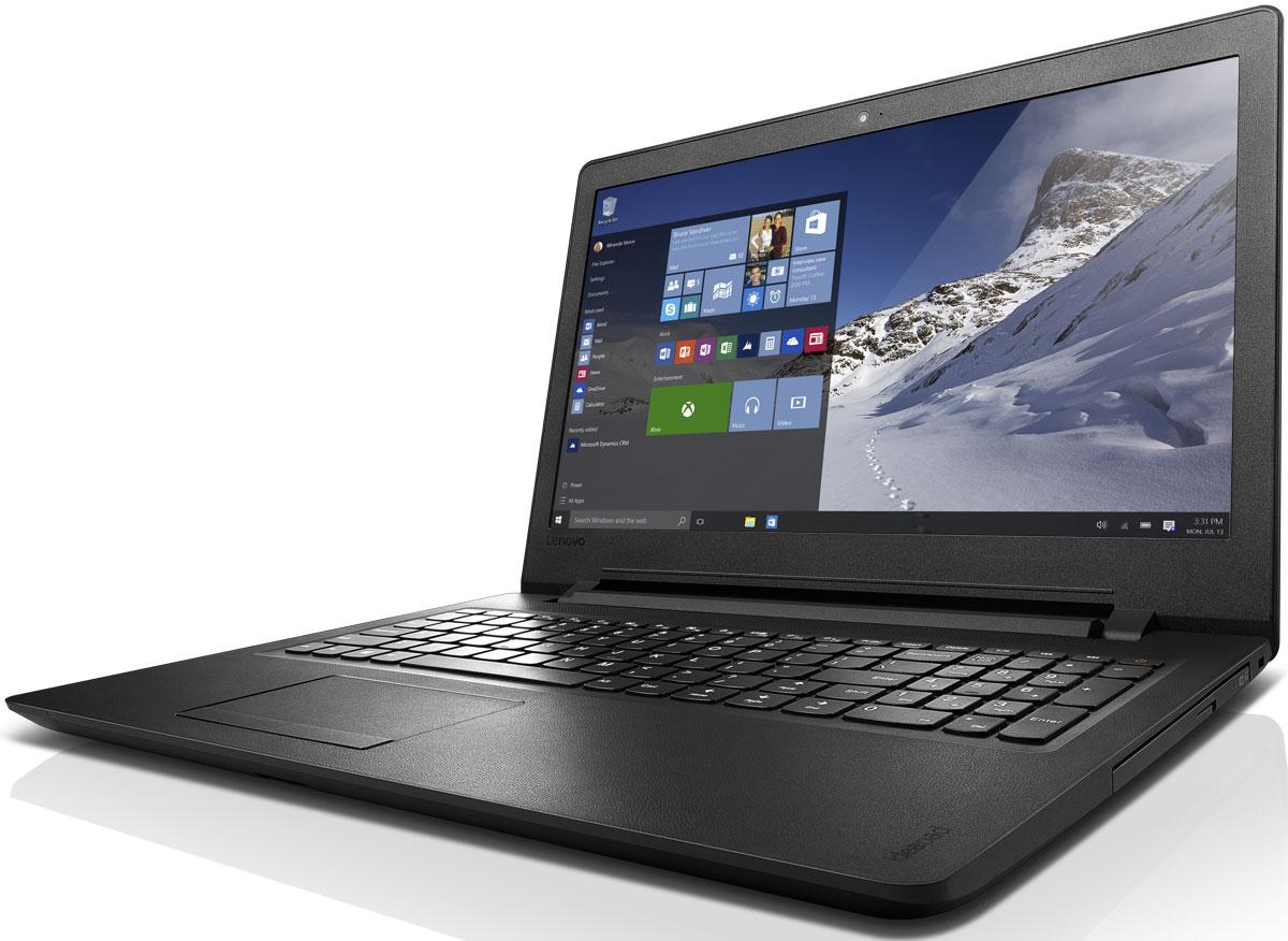 Lenovo IdeaPad 110-15IBR, Black (80T700C1RK)80T700C1RKLenovo IdeaPad 110 объединяет все необходимые характеристики в одном устройстве начального уровня: стабильная производительность, большой объем оперативной памяти и накопителя, высококлассный дисплей. Доступны комплектации с различными видеокартами.15,6-дюймовый широкоформатный дисплей стандарта HD с соотношением сторон 16:9 и разрешением 1366 х 768 обеспечивает четкость и яркость изображения.Ноутбук Ideapad 110 оснащен встроенным модулем Wi-Fi 802.11 a/c, что обеспечит молниеносную скорость для веб-серфинга, воспроизведения потокового видео и загрузки файлов. Скорость передачи данных стандарта Wi-Fi 802.11 a/c почти в три раза выше, чем 802.11 b/g/n.На ноутбук Lenovo IdeaPad 110 установлена обновленная версия уже знакомой Windows. Меню Пуск вернулось и стало лучше, чем прежде. Его можно расширять и настраивать под свои задачи. К ноутбуку можно подключать различные устройства: принтеры, камеры, USB-накопители и другие устройства. Дополнительные функции безопасности защитят его от кражи и вредоносного ПО.Точные характеристики зависят от модификации.Ноутбук сертифицирован ЕАС и имеет русифицированную клавиатуру и Руководство пользователя.
