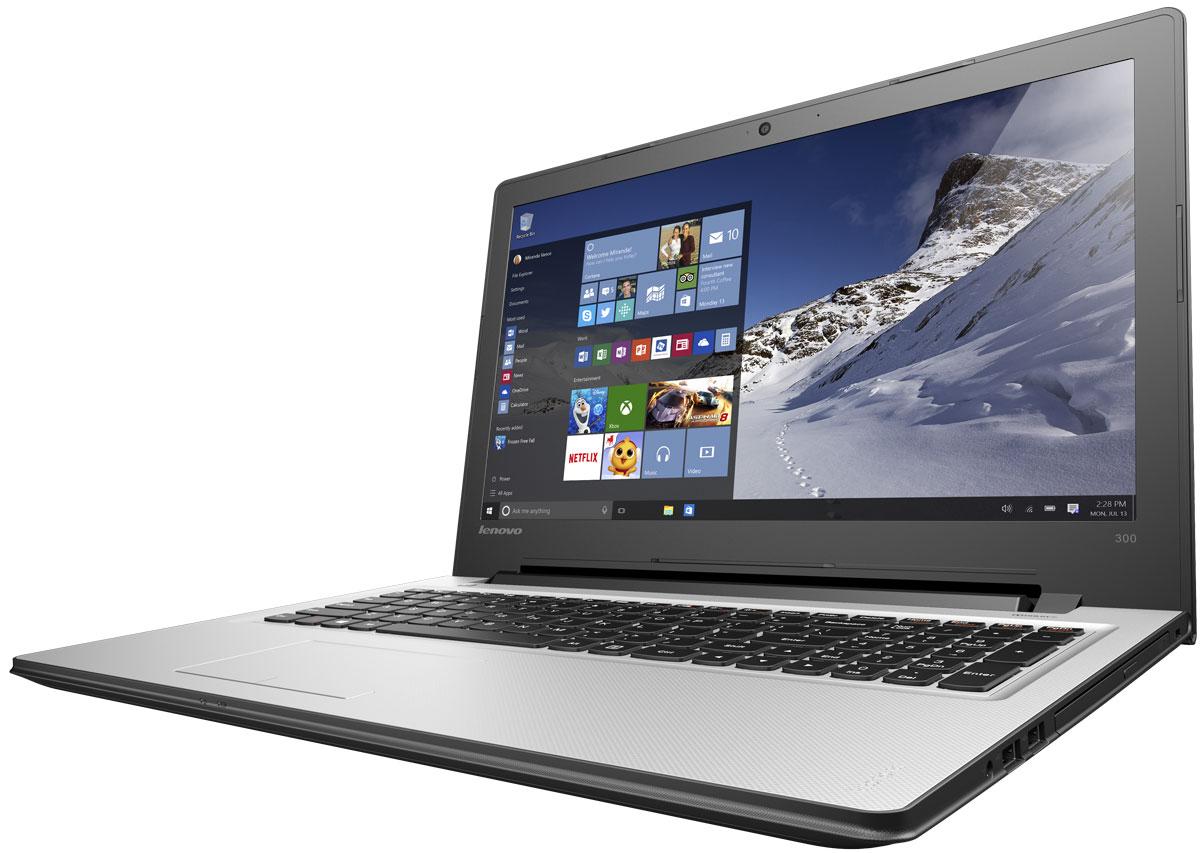 Lenovo IdeaPad 300-15IBR, Silver (80M300MQRK)80M300MQRKТонкий и стильный 15,6-дюймовый ноутбук Lenovo IdeaPad 300. Все, что нужно. Ничего лишнего. Если вы ищете недорогой производительный ноутбук, выбирайте IdeaPad 300.Процессор от Intel - идеальный компонент для мобильного компьютера, с отличным соотношением цены и производительности. Благодаря высокой энергоэффективности его можно заряжать реже.Высокая скорость передачи данных:Быстрая передача данных между IdeaPad 300 и другими устройствами при помощи разъема USB 3.0. Он почти в десять раз быстрее предыдущих версий USB и является обратно-совместимым.Тонкий, легкий и портативный:Хватить изнывать под тяжестью громоздкого ноутбука. Модель Ideapad 300 имеет всего 23,4 мм в толщину и весит около 2,3 кг - идеальный вариант для поездок и путешествий.Сверхскоростной веб-серфинг:В три раза более высокая (по сравнению с традиционной) скорость Wi-Fi 802.11 a/c ноутбука IdeaPad 300 позволит вам путешествовать по просторам Интернета, слушать музыку или смотреть фильмы и общаться с друзьями быстрее, чем когда-либо.Точные характеристики зависят от модификации.Ноутбук сертифицирован EAC и имеет русифицированную клавиатуру и Руководство пользователя.