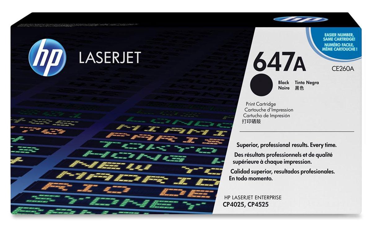 HP CE260A, Black тонер-картридж для Color LaserJet CP4025/CP4525CE260AРасходные материалы HP Color LaserJet 647 обеспечивают высокую производительность и экономят время и расходные материалы. Надежная печать деловых документов профессионального качества. Картриджи HP разработаны для использования с вашим принтером.Оригинальные картриджи HP с тонером ColorSphere обеспечивают четкий черный текст при печати деловых документов. Тонер HP гарантирует неизменно высокие результаты и профессиональное качество лазерной печати на различных носителях.Низкие расходы на печать и высокая эффективность работы. Картриджи для принтеров HP Color LaserJet гарантируют безотказную печать неизменно высокого качества. Благодаря своей исключительной надежности эти картриджи обеспечивают бесперебойную работу и позволяют снизить затраты на расходные материалы.Выберите черный картридж в соответствии с вашими потребностями. Этот стандартный картридж идеально подходит для повседневной офисной печати. Интеллектуальная система, встроенная в оригинальные картриджи HP, упрощает мониторинг расхода тонера и процедуру заказа расходных материалов.